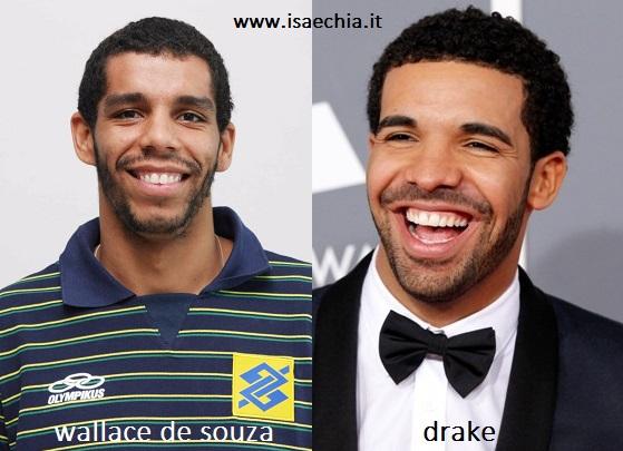 Somiglianza tra Wallace De Souza e Drake