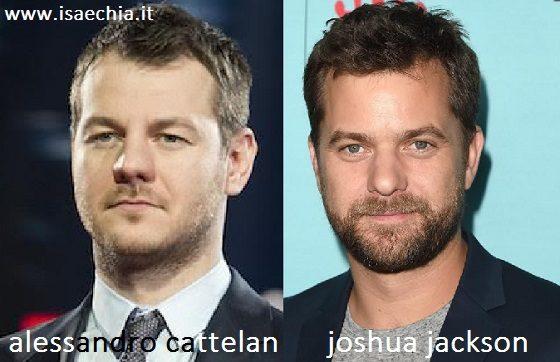 Somiglianza tra Alessandro Cattelan e Joshua Jackson