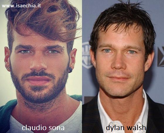 Somiglianza tra Claudio Sona e Dylan Walsh