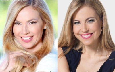 Somiglianza tra Federica Panicucci e Cristina Dragano