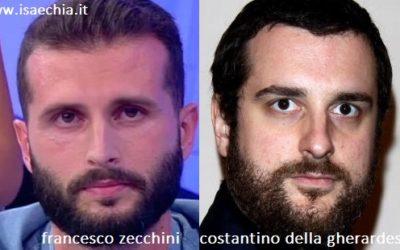 Somiglianza tra Francesco Zecchini e Costantino della Gherardesca