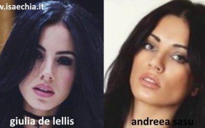 Somiglianza tra Giulia De Lellis e Andreea Sasu