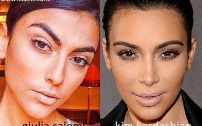 Somiglianza tra Giulia Salemi e Kim Kardashian