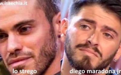 Somiglianza tra Lo Strego e Diego Armando Maradona Jr