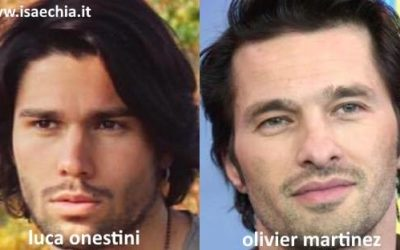 Somiglianza tra Luca Onestini e Olivier Martinez