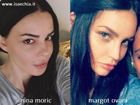Somiglianza tra Nina Moric e Margot Ovani