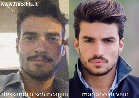 Somiglianza Alessandro Schincaglia e Mariano Di Vaio