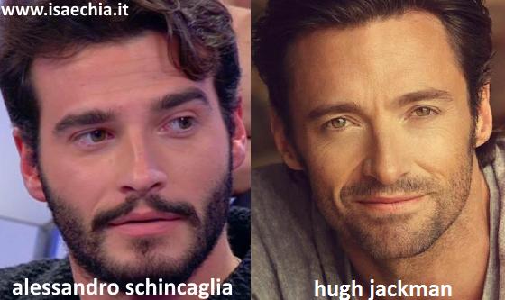 Somiglianza tra Alessandro Schincaglia e Hugh Jackman