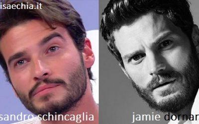 Somiglianza tra Alessandro Schincaglia e Jamie Dornan
