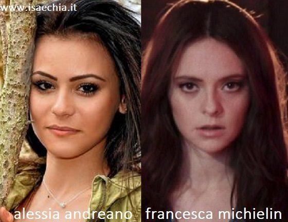 Somiglianza tra Alessia Andreano e Francesca Michielin