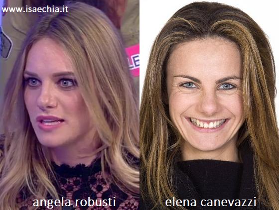 Somiglianza tra Angela Robusti ed Elena Canevazzi