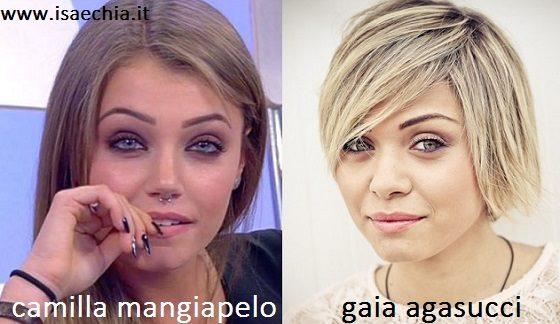 Somiglianza tra Camilla Mangiapelo e Giada Agasucci
