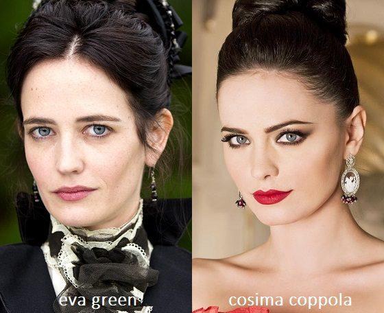 Somiglianza tra Eva Green e Cosima Coppola