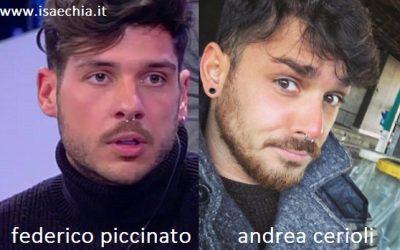 Somiglianza tra Federico Piccinato e Andrea Cerioli