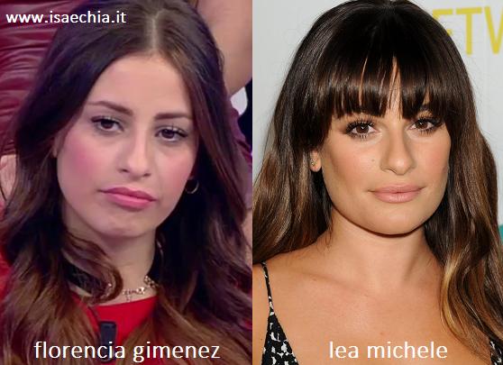 Somiglianza tra Florencia Gimenez e Lea Michele