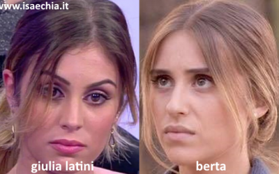 Somiglianza tra Giulia Latini e Berta de 'Il Segreto'