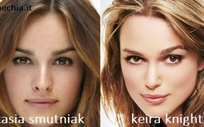 Somiglianza tra Kasia Smutniak e Keira Knightley