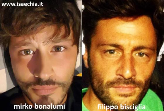 Somiglianza tra Mirko Bonalumi e Filippo Bisciglia