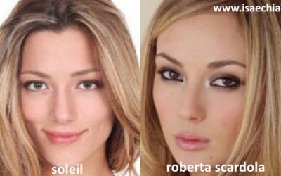 Somiglianza tra Soleil Anastasia Sorge e Roberta Scardola