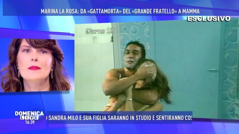 Marina La Rosa parla di Pietro Taricone a Domenica Live