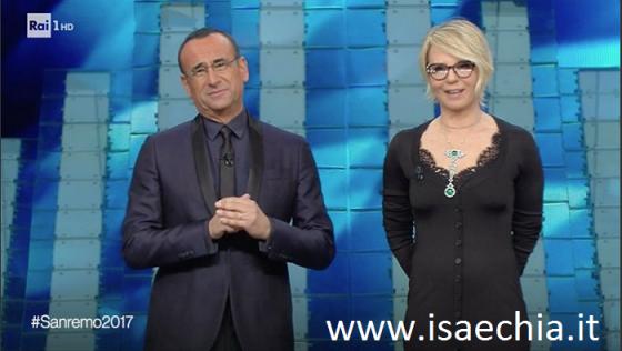 Sanremo 2017 ascolti terza serata Maria De Filippi arrabbiata con Conti?