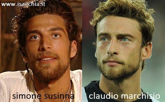 Somiglianza Simone Susinna e Claudio Marchisio