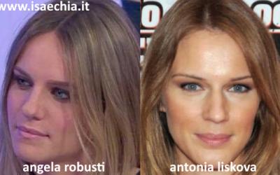 Somiglianza tra Angela Robusti e Antonia Liskova
