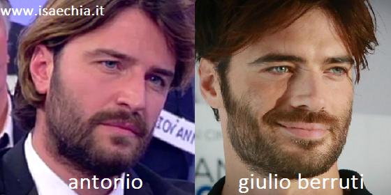 Somiglianza tra Antonio e Giulio Berruti