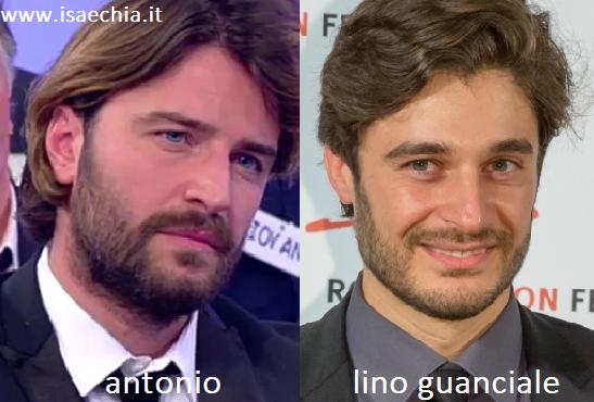Somiglianza tra Antonio e Lino Guanciale