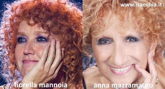 Somiglianza tra Fiorella Mannoia e Anna Mazzamauro