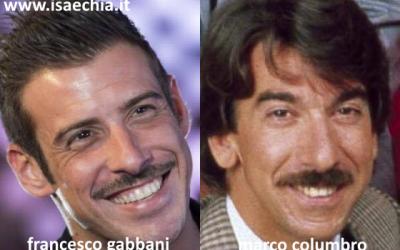 Somiglianza tra Francesco Gabbani e Marco Columbro
