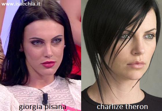 Somiglianza tra Giorgia Pisana e Charlize Theron