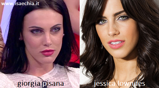 Somiglianza tra Giorgia Pisana e Jessica Lowndes