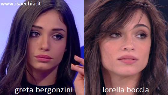 Somiglianza tra Greta Bergonzini e Lorella Boccia