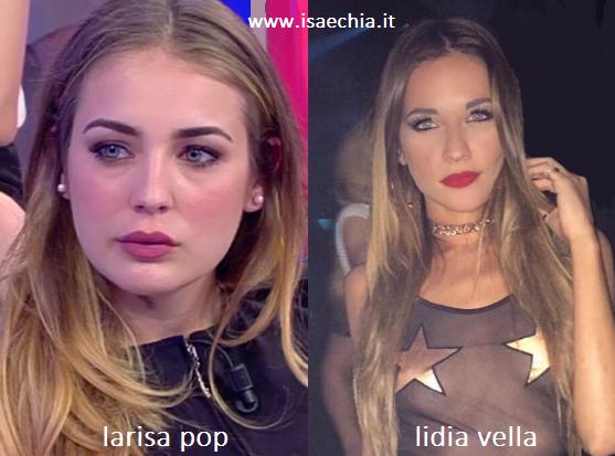 Somiglianza tra Larisa Pop e Lidia Vella