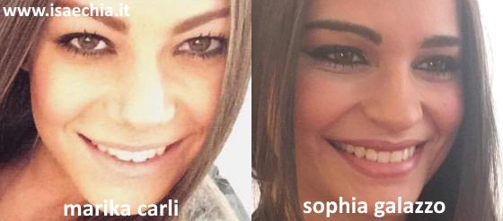 Somiglianza tra Marika Carli e Sophia Galazzo