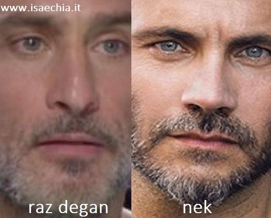 Somiglianza tra Raz Degan e Nek 2