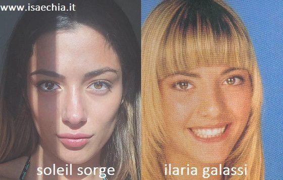 Somiglianza tra Soleil Sorge e Ilaria Galassi