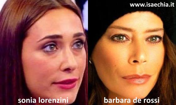 Somiglianza tra Sonia Lorenzini e Barbara De Rossi