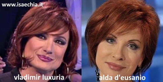 Somiglianza tra Vladimir Luxuria e Alda D'Eusanio
