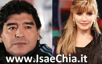 Diego Armando Maradona e Milly Carlucci