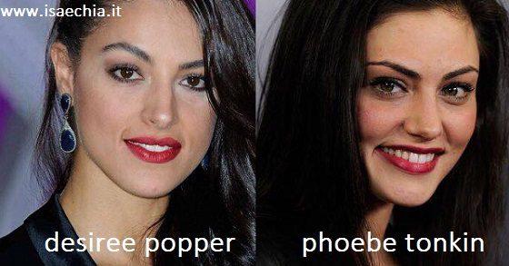 Somiglianza tra Desireè Popper e Phoebe Tonkin