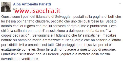 Alba Parietti, dure accuse a Selvaggia Lucarelli e il fidanzato Lorenzo Biagiarelli