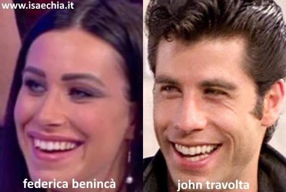 Somiglianza tra Federica Benincà e John Travolta