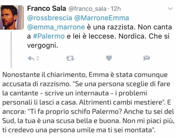 Annulla il concerto a Palermo, Emma accusata di razzismo: