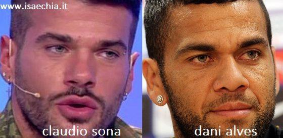 Somiglianza tra Claudio Sona e Dani Alves