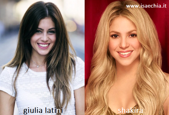 Somiglianza tra Giulia Latini e Shakira