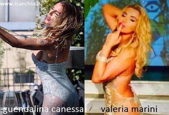 Somiglianza tra Guendalina Canessa e Valeria Marini