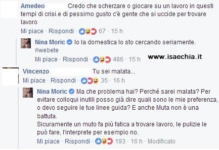 Nina Moric cerca colf