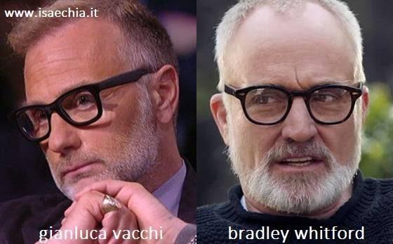 Somiglianza tra Gianluca Vacchi e Bradley Whitford